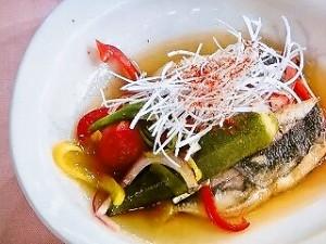 夏野菜とアジの南蛮漬け