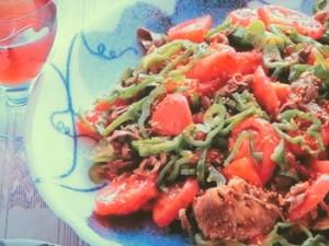 牛肉の夏野菜あえ
