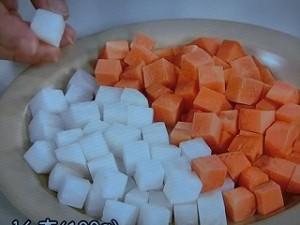 根菜の炊きオムライス
