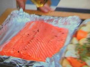 サーモンマリネのオーブン焼き