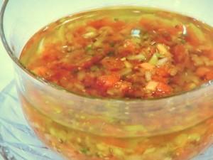 トマトといぶりがっこソース