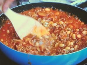 ごぼうと豆のキーマカレー