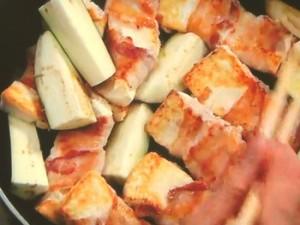 豆腐の肉巻き焼き