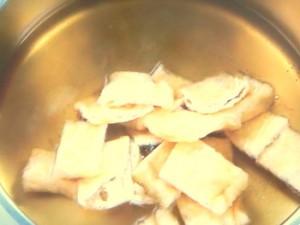 油揚げとキャベツの煮物