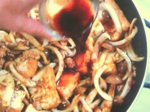 厚揚げとひき肉のカレー炒め