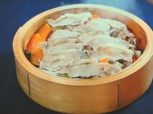 ガッツリ豚肉のヘルシー蒸し