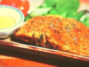 鮭のカレーハーブ焼き