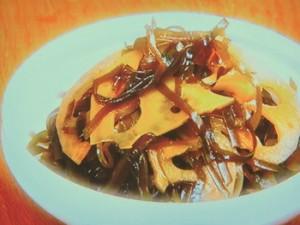 レンコンとすき昆布の煮物