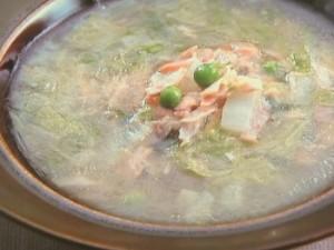 白菜とツナのスープ