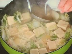 白菜とホタテの煮物