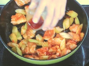 鶏とセロリの炒めもの