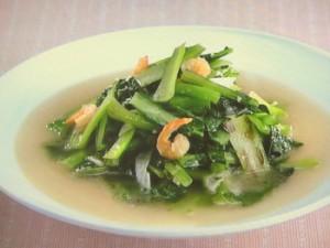 小松菜と干し海老の炒め煮