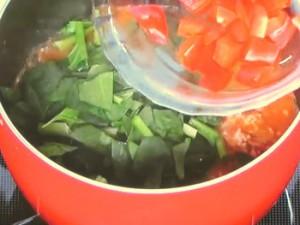 緑黄色野菜とミンチのラグー