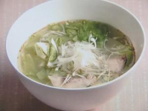 いさきとレタスのスープ