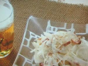 新たまねぎと焼き豚のサラダ