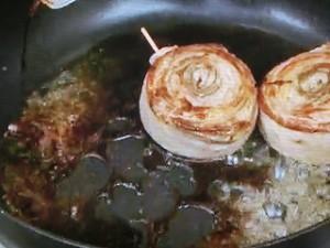 豚バラの青ジソロールステーキ