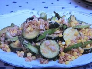 夏野菜とツナのマヨソテー