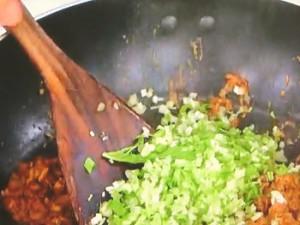 水菜の汁なしタンタン麺