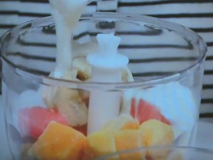 しょうがレモン氷とマンゴーのお手軽ジェラート
