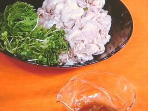豚しゃぶの梅ソース