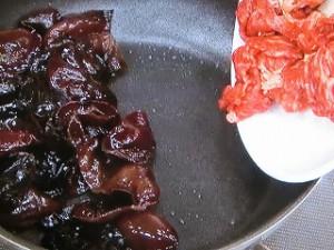 キクラゲの肉炒め