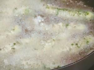 小えびとオクラのチーズパン粉揚げ