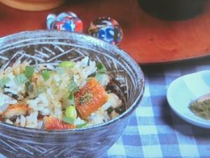 枝豆とうなぎの混ぜごはん