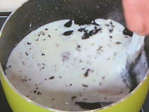 黒ごまと豆腐のデザート