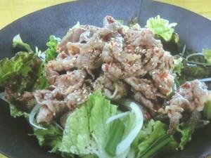 ゆで牛肉の韓国風サラダ