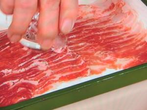 みょうがと豚肉のサッと煮
