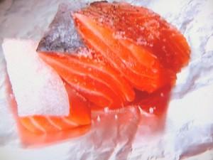 鮭とクレソンのホイル焼き
