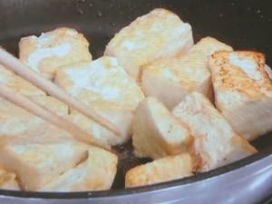 豚肉と豆腐の高菜炒め