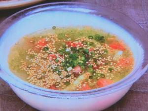 鶏肉と冬瓜とトマトの冷製スープ