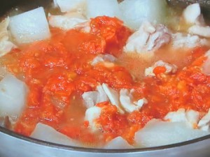 鶏肉と冬瓜のトマト煮