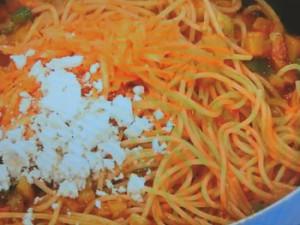 京野菜で農家風スパゲッティ