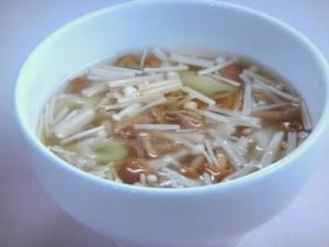 えのきとなめこのスープ