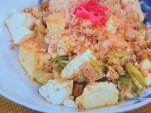 鶏そぼろ豆腐炒め