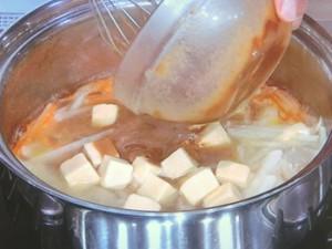炒め野菜と高野豆腐のみそ汁