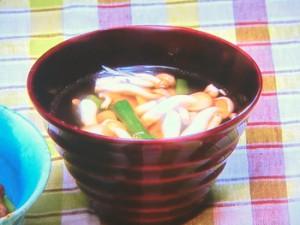 インゲンのにんにくスープ