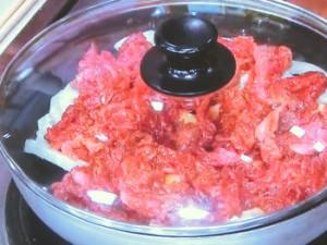 牛肉とれんこんの蒸しもの