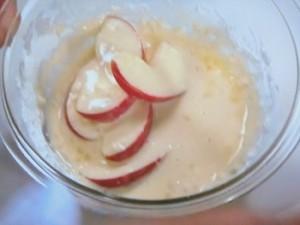 揚げさばとりんごのピリ辛