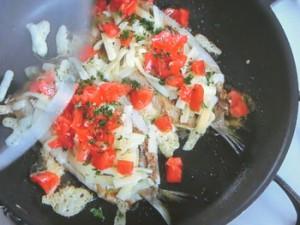 いわしのトマト・チーズ焼き