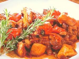 チキンのみそトマト煮込み