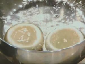 「かぶの魚介詰め」と「かぶの塩昆布あえ」
