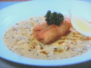 白身魚のカレーパン粉焼き