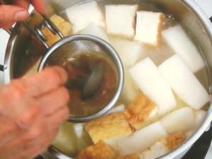 厚揚げと長芋のみそ煮