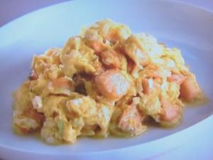 サーモンの卵炒め