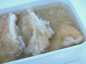 茹で鶏と4種のたれ