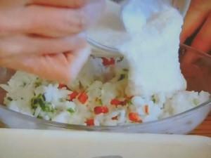 フリーズドライで山芋ホワイトソースのドリア