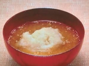 蓮根のおろし味噌汁